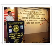 Lions Club Of Kuala Lumpur Mega City Annual Fund Raising Dinner